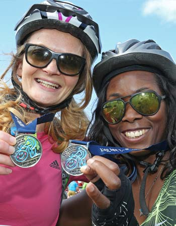 LCL bike ride competitors women