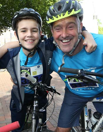 Dad and Lad bike riders